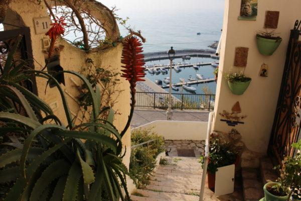 スペルロンガから望む海 イタリア地中海
